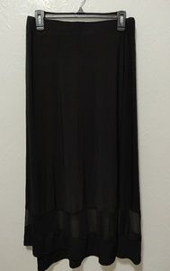 Black flowy maxi skirt